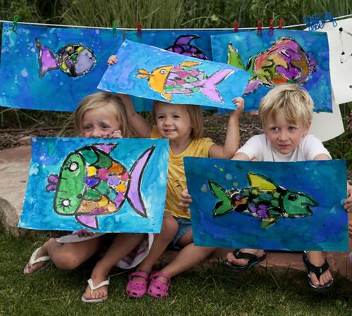 Backyard art fish9