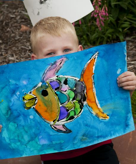 Backyard art fish 11