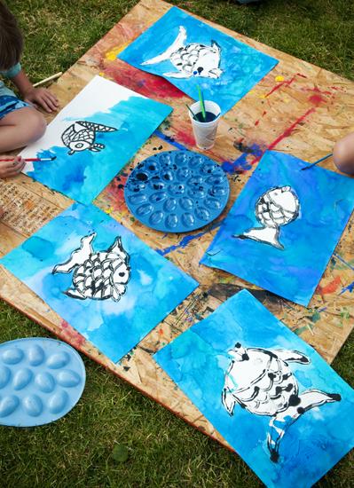 Backyard art fish7