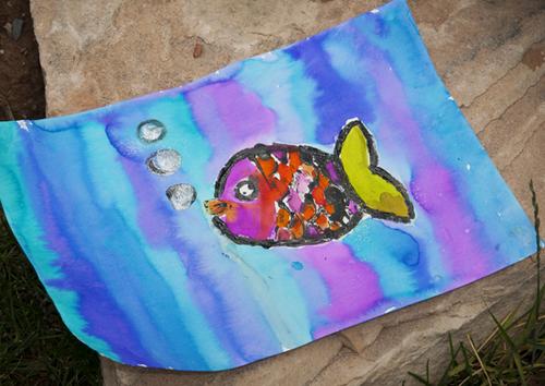 Backyard art fish10